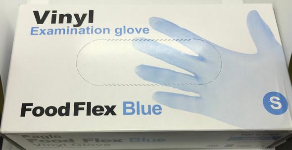 Vinyl Examination Gloves Blue, Small, Powder Free Non-Sterile, 100pcs/box