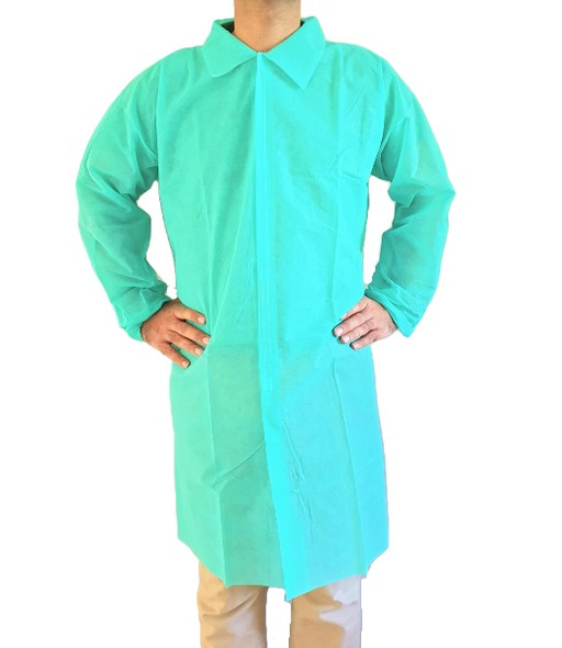 Disposable Medical Dental Laboratory Isolation Cover Gown, lab coat, 10 Pcs