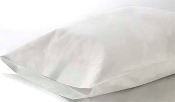 Pillow Cover Case, 75x50cm, 30GSM, Recyclable Spunbond Polypropylene, Nonwoven White, Black Stitching, Hygienic Single Pack, 50 per Box
