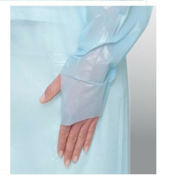 Disposable Plastic CPE Isolation Gown Waterproof Clean Apron, Free Size, 150 Pcs
