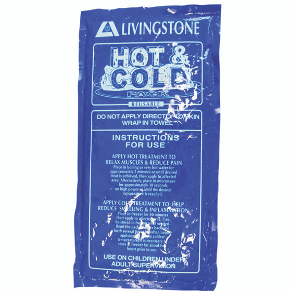 Hot and Cold Pack, 15 x 30cm, Reusable, Clear Non-Staining Gel, Each