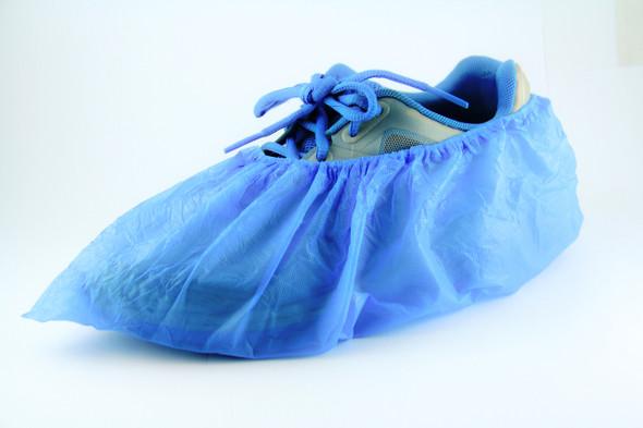 1000pcs/ ctn, Plastic Shoe Covers Overshoes Waterproof CPE Shoe Cover Blue, 10 x 100pcs/bag