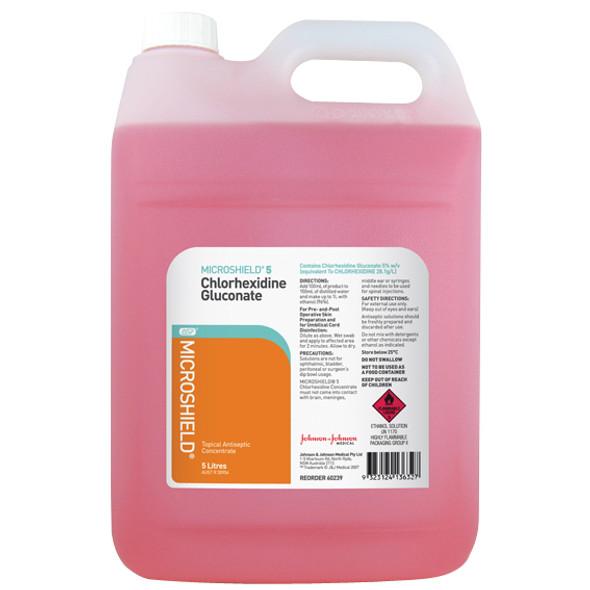 Microshield 5 Percent Chlorhexidine, 5 Liter Bottle, Each