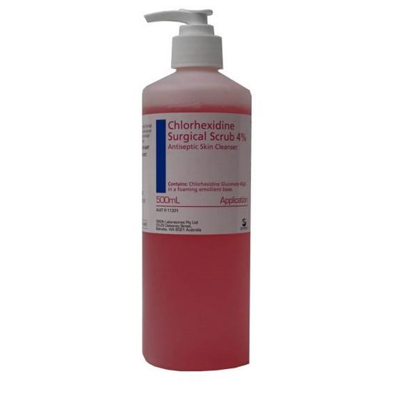Chlorhexidine Surgical Scrub 4 % 500ml - 4 Percent, Each