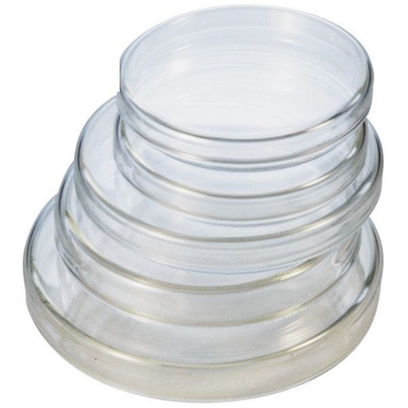 100D x 22H (mm), GLASS PETRI DISHES WITH LIDS