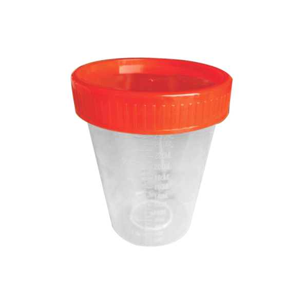 Sample Jar 250ml Natural Clear Recyclable Plastic, Unlabelle