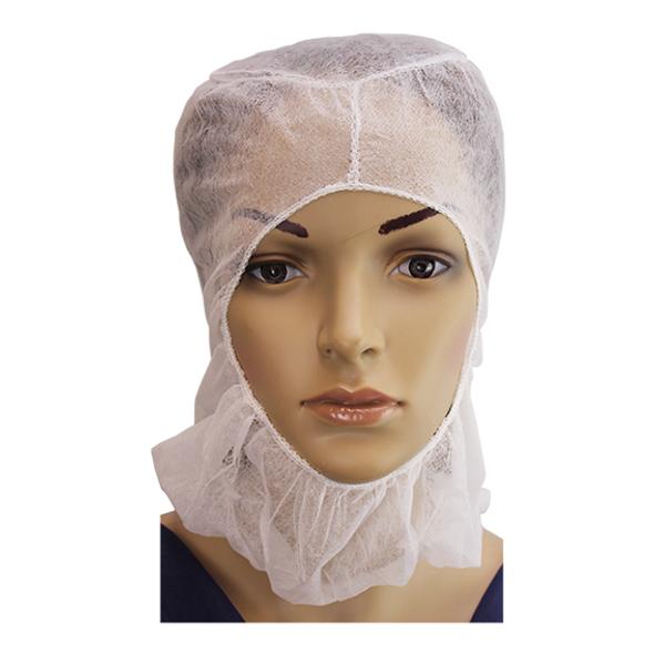 Disposable Space Caps Balaclava Hood, Nonwoven, 20GSM SSP, White, 100 per Pack, 1,000 per Carton