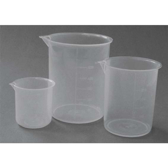 Beaker, 1000ml, Low Form, with Spout, Recyclable Polypropyle