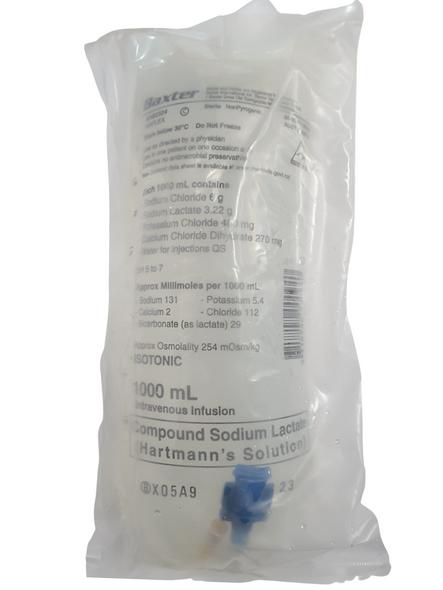 Baxter Hartmanns IV Solution Hartmann's Intravenous IV Solution, 1 Litre - 1000ml Bag - AHB2324 -   - Each