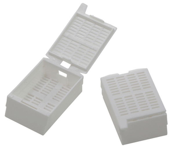 White Embedding Cassettes, Acetylic Resin, Square Grid, Hist