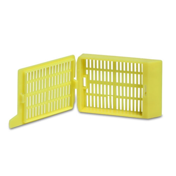 Yellow Embedding Cassettes, Acetylic Resin, Square Grid, His