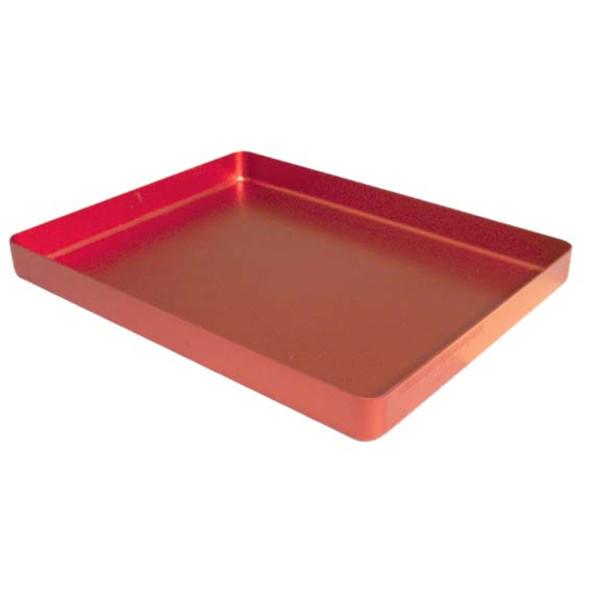 Instrument Tray, 183 x 142 x 17mm, Mini, Red Base, Aluminium, Each