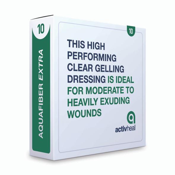 Activheal Aquafiber Extra 10 X 10cm - 10pcs/Box