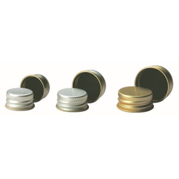 Cap Screw Aluminium Rubber Lined 20mm - To Suit 28mL Wide Mouth McCartney Bottle and 355.200 Series - R3, Each