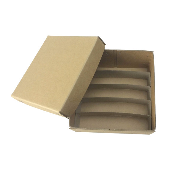 Cardboard Histology Cases, 30 x 20 x 5cm, 6 Compartments of 3cm