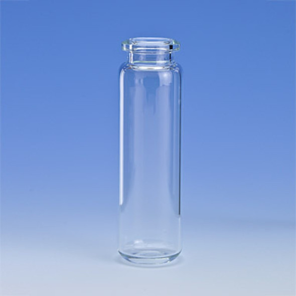Vial Headspace 20ml Clear Rounded Bottom Tapered Finish Crim