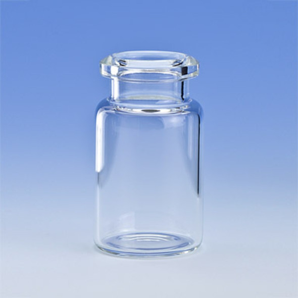 Vial Headspace 6ml Clear Flat Bottom Tapered Finish Crimp Cap 20mm,PK100