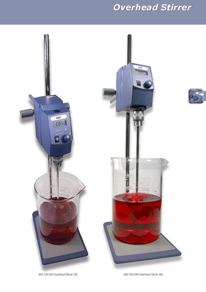 Stirrer Overhead, Stirring Volume: Up to 40L (in relation to H20)