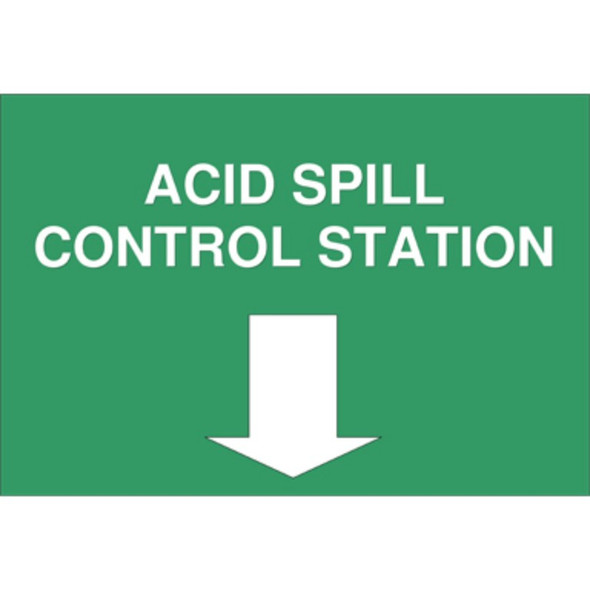 """Sign For Spill Kit """"Acid Spill Control Station"""" A4, Each"""