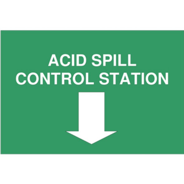 """Sign For Spill Kit """"Acid Spill Control Station"""" A3, Each"""