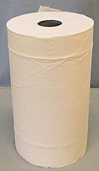 Towel Roll  24.5cm x 100M White Embossed, one roll