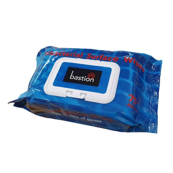 Antibacterial Surface Wipes, 80 Sheets, 20 x 15cm - Carton/24 Packs