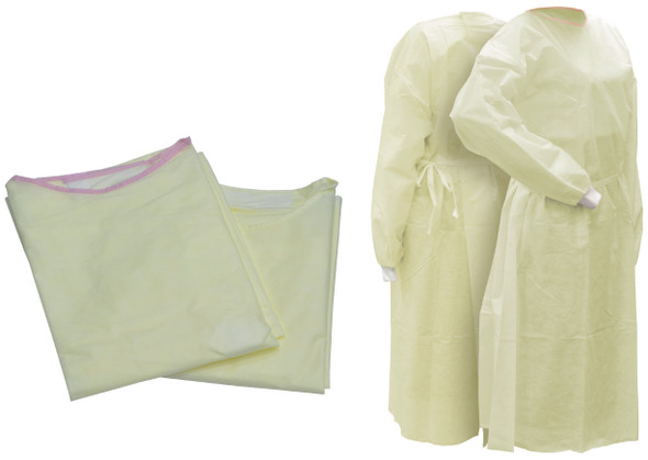 SFW SMS Isolation Gown Yellow Regular, 5 Pack of 10 piece