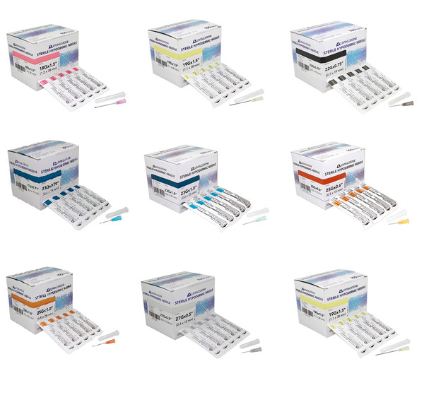 100pcs/box Livingstone Disposable Hypodermic Needles various gauges 18G to 27G (18G, 19G, 20G, 21G, 22G, 23G, 25G, 26G, 27G) fits all syringes
