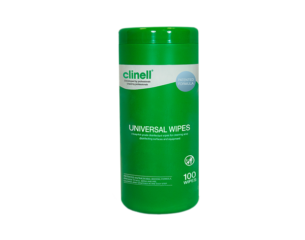Clinell Universall Wipes (CWTUB100AUS) 100 wipes / Tube