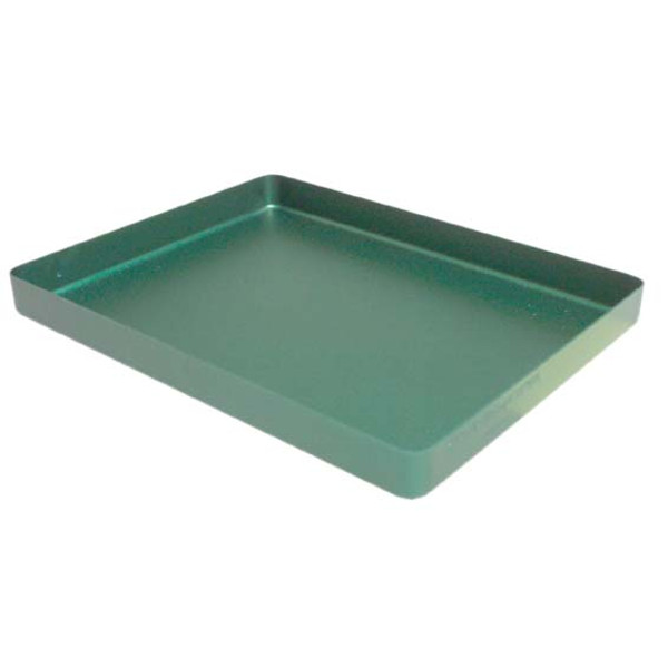 Instrument Tray, 183 x 142 x 17mm, Mini, Green Base, Aluminium, Each