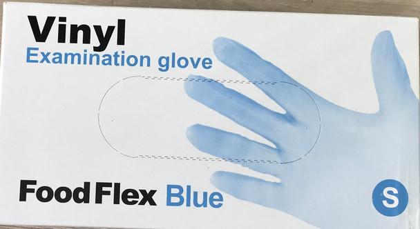 Vinyl Examination Gloves Blue, Small, Powder Free Non-Steril