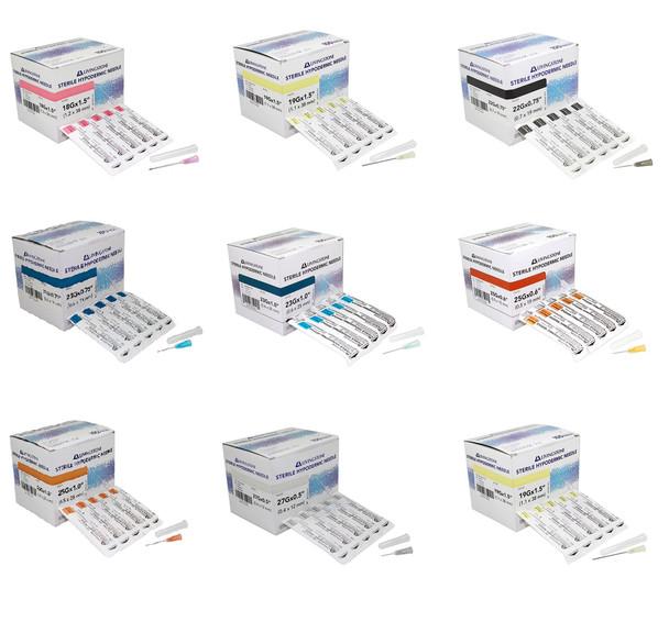 100pcs/box Disposable Hypodermic Needles various gauges 18G