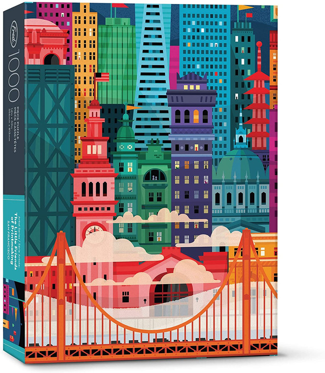 THE LITTLE FRIENDS OF PRINTMAKING: SAN FRANCISCO 1000 PIECE PUZZLE