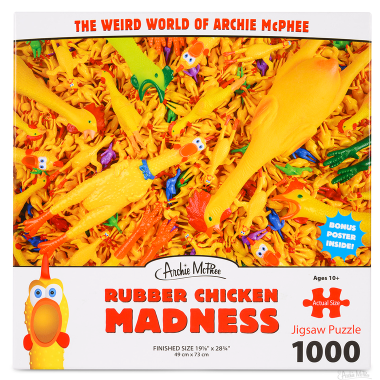 RUBBER CHICKEN MADNESS 1000 PIECE PUZZLE