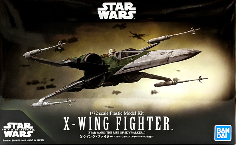 BANDAI SPIRITS: STAR WARS - X-WING FIGHTER (THE RISE OF SKYWALKER) 1/72 SCALE MODEL KIT