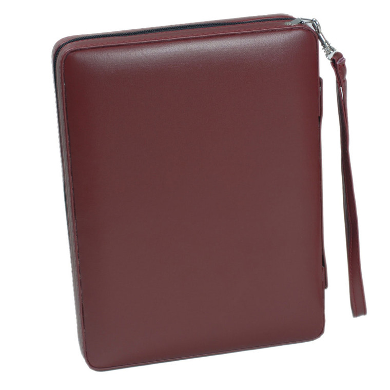 """BACKGAMMON 9"""" BURGUNDY MAGNETIC WITH STRAP"""