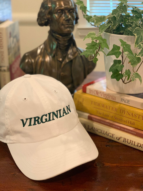 Virginian hat in classic green and white