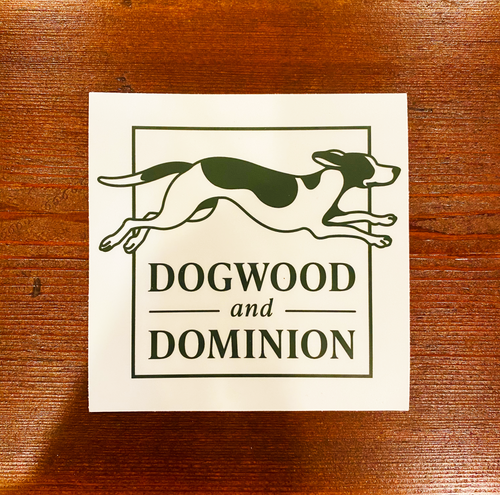 Dogwood & Dominion Foxhound Logo Sticker Virginia