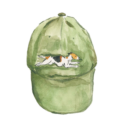Dogwood & Dominion Foxhound Hat Watercolor Print