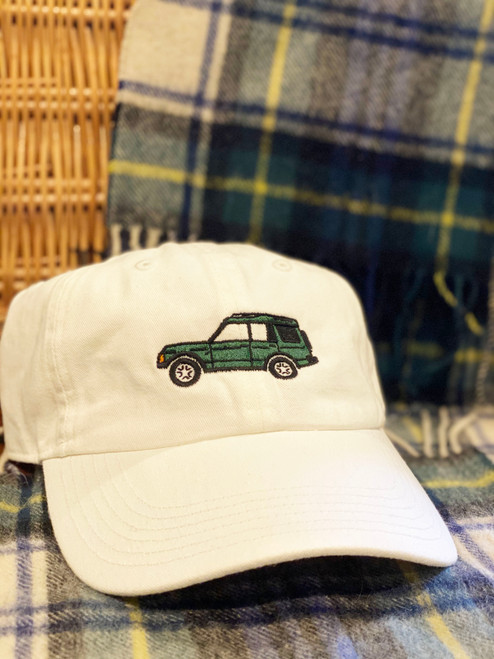 Green Rover on White Hat