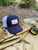 Virginia on the Fly Trucker Hat, Virginia Fly Fishing Hat, Fly Fishing Hat, Patch Hat, Virginia on the Fly Patch, Navy