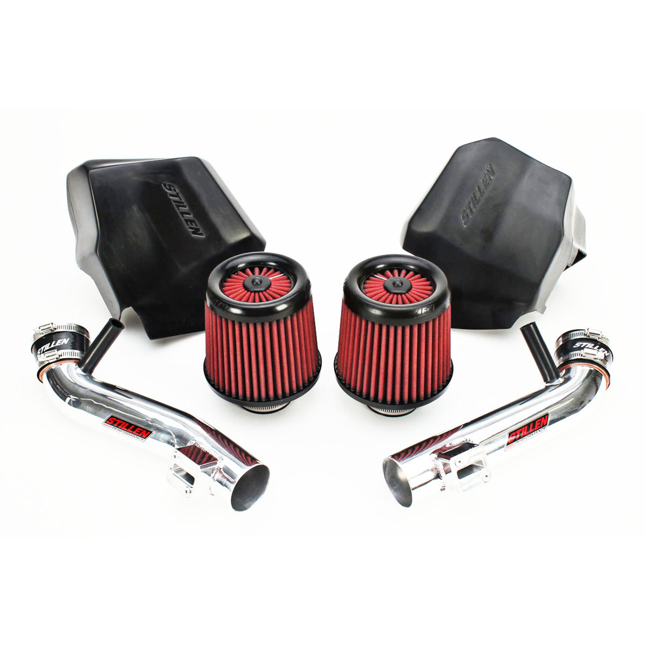 STILLEN (402851DF) GEN 2 HIGH FLOW, COLD AIR INTAKE SYSTEM WITH DRY AIR  FILTER + HEAT SHIELD, NISSAN 370Z (2009-18) VQ37VHR ENGINE