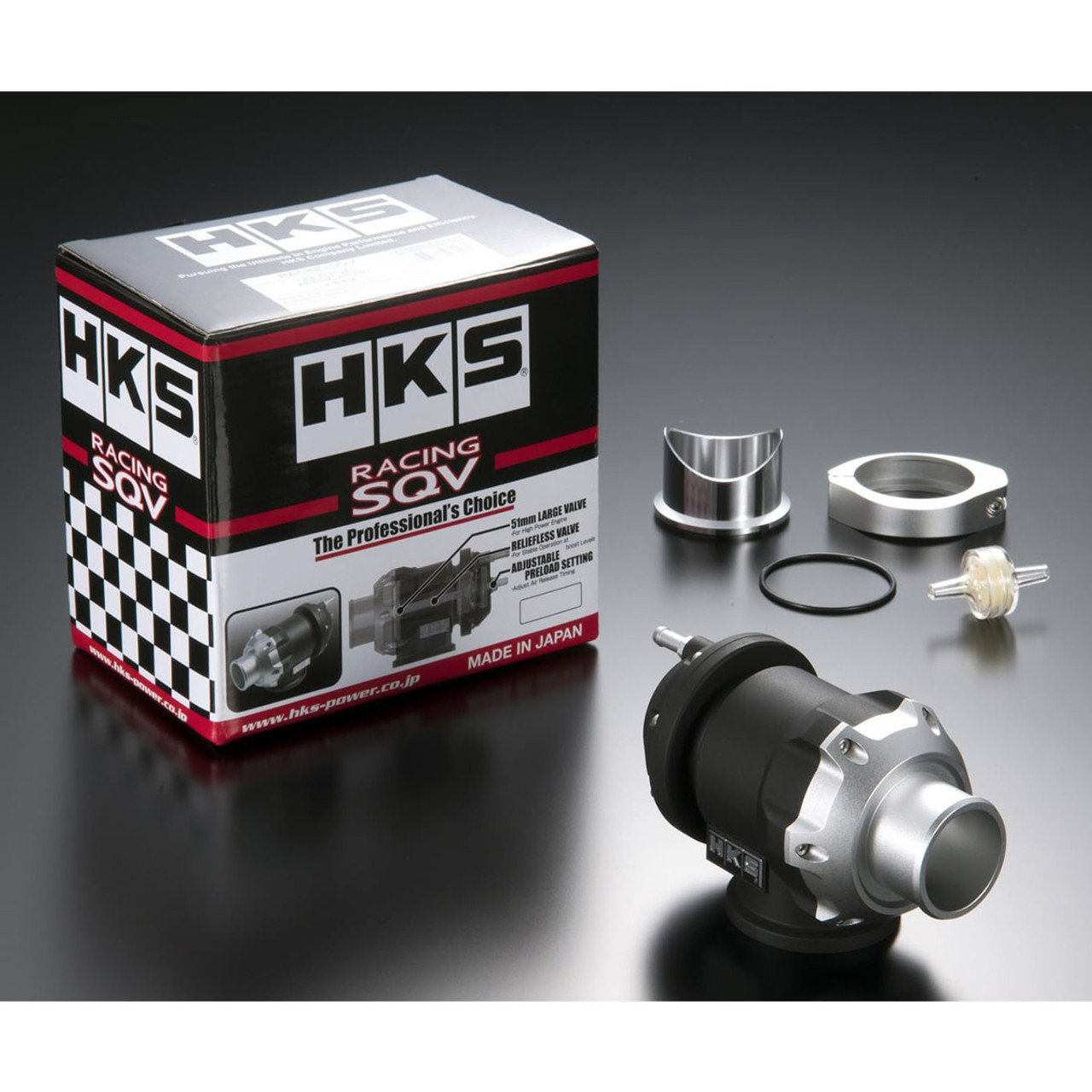 HKS (71008-AK004) RACING SQV, UNIVERSAL BLOW OFF VALVE