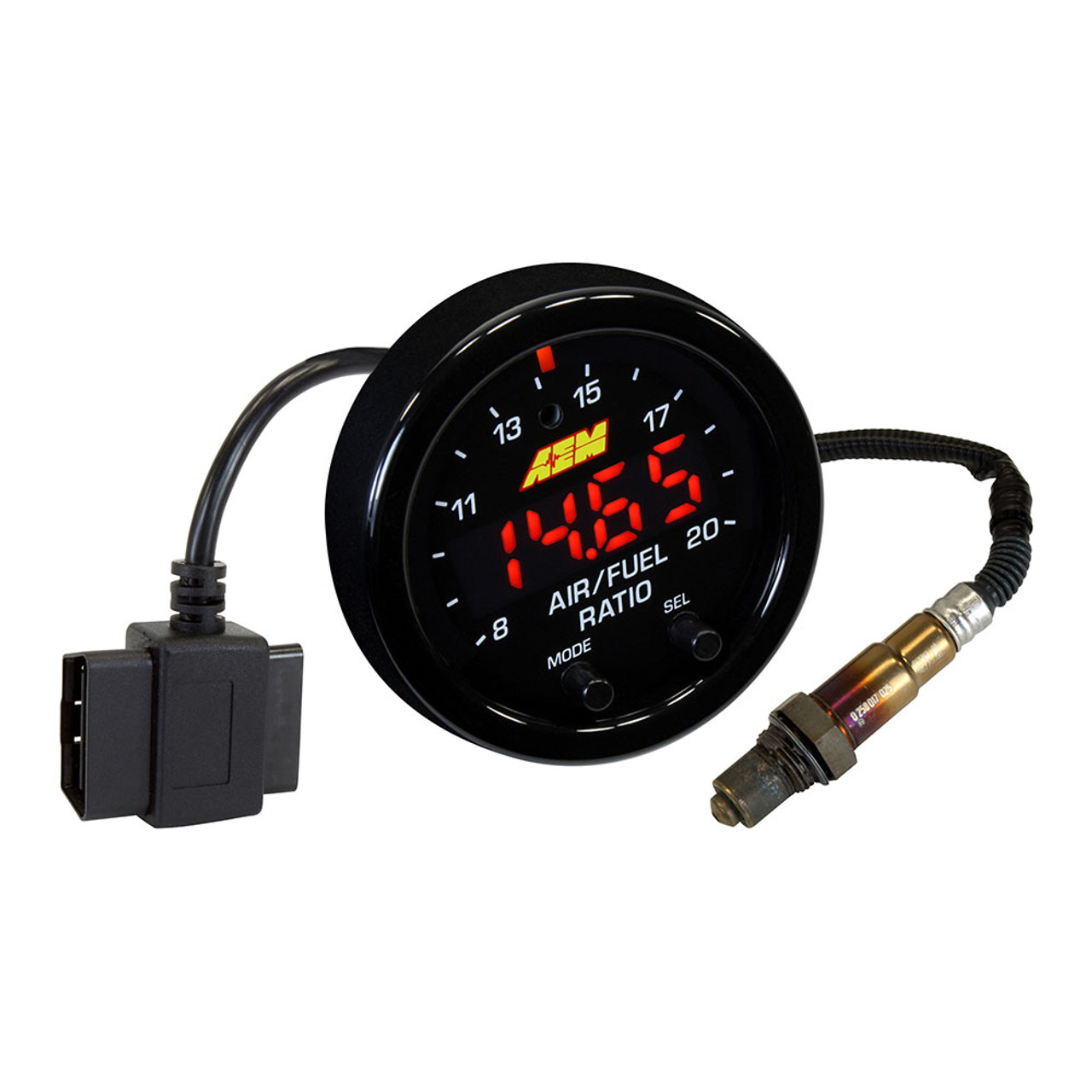 AEM (30-0334) X-SERIES OBDII WIDEBAND UEGO AFR GAUGE KIT, PLUG-N-PLAY!