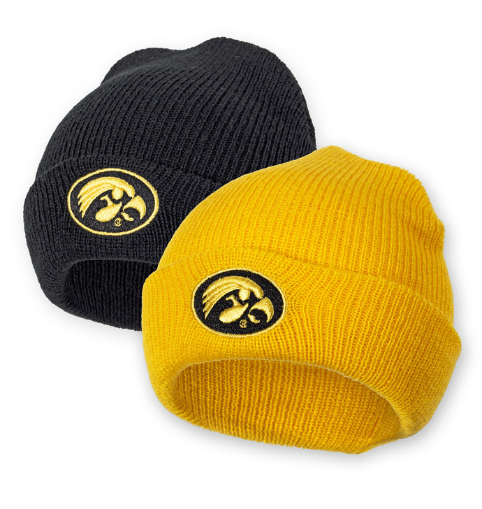 Iowa Hawkeyes Black & Gold Infant Beanies - Addison