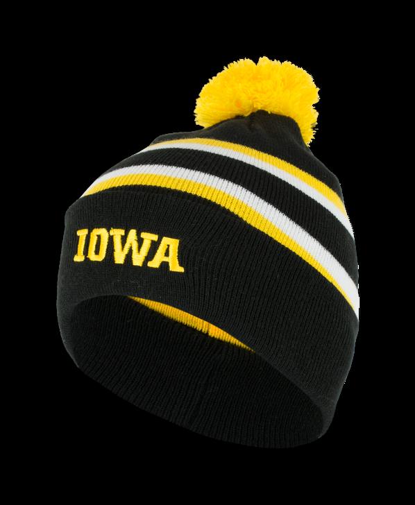 Iowa Black Bold Stripe