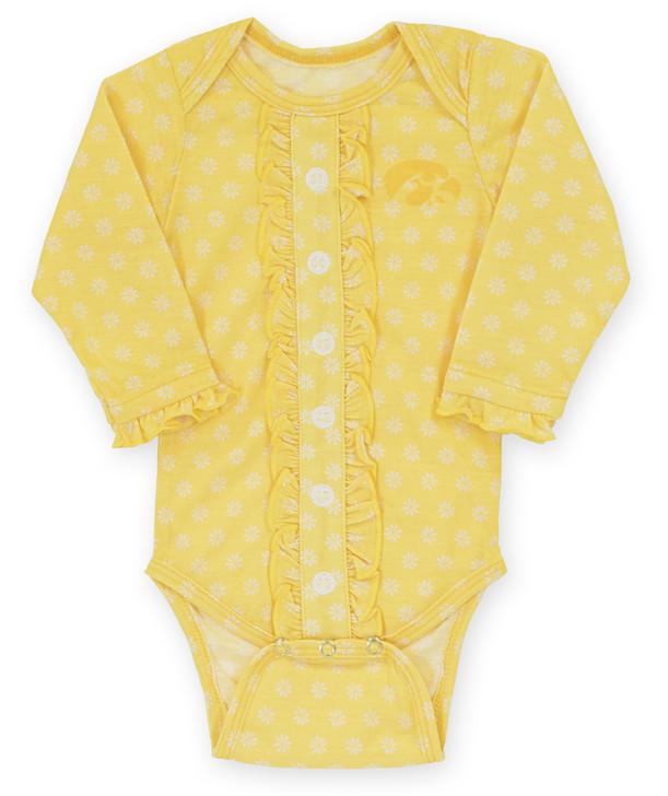 Iowa Hawkeyes Gold Infant Onesie - Adrian