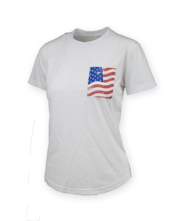 Cason Flag Pocket T-Shirt Womens