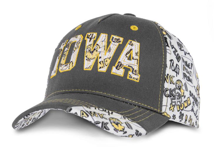 Iowa Hawkeyes Youth Cap with Printed Pattern - Morgan