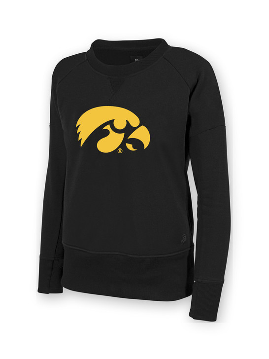 Iowa Hawkeyes Women's Black Sweatshirt - Stephanie